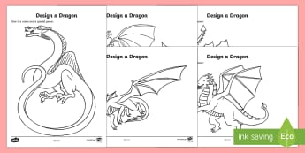 St. George's Day Design a Dragon Activity Sheets - KS1, Year 1, Year 2, St George, Saint George,Saint George's Day,  worksheets, 23rd April, Dragon, S