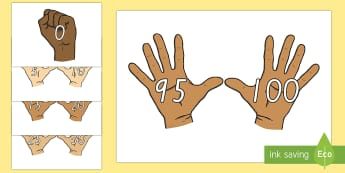 Counting in 5s on Hands Activity Sheet - New Zealand, maths, skip counting, 5s, counting in 5s, Years 1-3