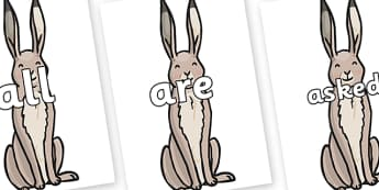 Tricky Words on Hare - Tricky words, DfES Letters and Sounds, Letters and sounds, display, words