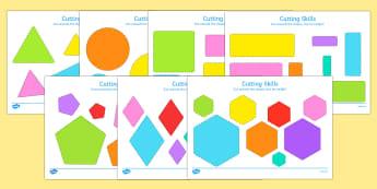 Cutting Skills Worksheets (Size & Shape Ordering) - Scissor skills, cutting, cutting worksheet, using scissors, cutting skills, fine motor skills