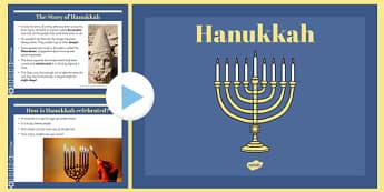 EYFS Hannukah Information PowerPoint - jewish, judaism, religion