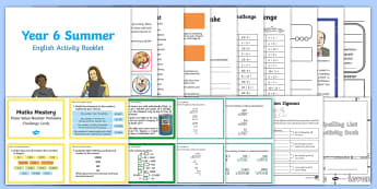 Summer Holiday Transition Year 5 Moving Into Year 6 Activity Pack - holiday, catch up, revision, year 6, homework