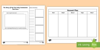 The story of my First Holy Communion Activity Sheet - Confession & First Communion Resources,Irish,worksheet