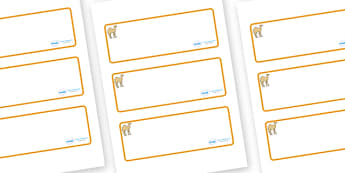 Camel Themed Editable Drawer-Peg-Name Labels (Blank) - Themed Classroom Label Templates, Resource Labels, Name Labels, Editable Labels, Drawer Labels, Coat Peg Labels, Peg Label, KS1 Labels, Foundation Labels, Foundation Stage Labels, Teaching Labels