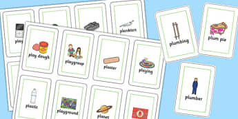Two Syllable PL Sound Flash Cards - two syllable, pl sound, flash cards, sound, pl