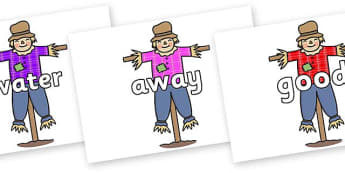 Next 200 Common Words on Scarecrows - Next 200 Common Words on  - DfES Letters and Sounds, Letters and Sounds, Letters and sounds words, Common words, 200 common words