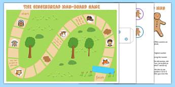 The Gingerbread Man Board Game - board game, gingerbread man