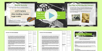 The War of the Worlds Prose Lesson Pack 1 - war of the worlds, prose, lesson pack, lesson 1, lesson, pack, ks4
