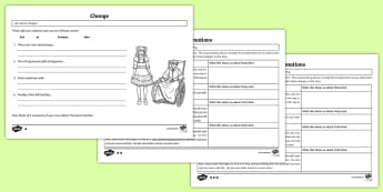 The Secret Garden Transformation Theme Differentiated Worksheets