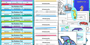EYFS Lesson Plan Enhancement Ideas and Resources Pack to Support Teaching on The Rainbow Fish - eyfs, rainbow fish, lesson plan