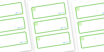 Green Themed Editable Drawer-Peg-Name Labels (Blank) - Themed Classroom Label Templates, Resource Labels, Name Labels, Editable Labels, Drawer Labels, Coat Peg Labels, Peg Label, KS1 Labels, Foundation Labels, Foundation Stage Labels, Teaching Labels