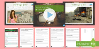 Poetry Lesson Pack on 'War Photographer' by Carol Ann Duffy Lesson Pack - GCSE, Literature, Poetry, War Photographer, analysis