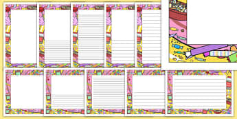 Sweets Page Border Pack - sweets, page border, pack, page borders, page, border