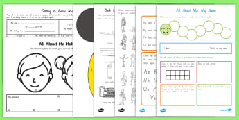 Year 1 First Week Back  Activity Pack - New Zealand Back to School, back to school, activities, all about me, getting to know you,