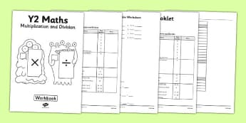 Year 2 Multiplication and Division Workbook - workbook, activity pack, worksheets, independent, home learning