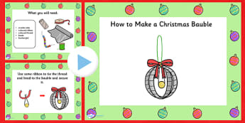 Make a Christmas Bauble Craft Activity PowerPoint - christmas, christmas craft, christmas crafts, christmas bauble, art, powerpoint, christmas powerpoint