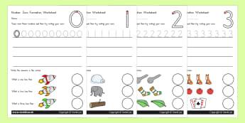 Number Formation Worksheets 0 9 Standard Version - number form, overwriting