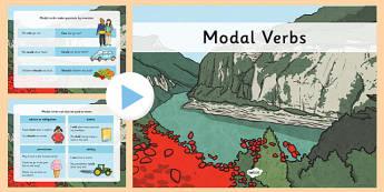 Using Modal Verbs PowerPoint - modal verbs, powerpoint, verbs