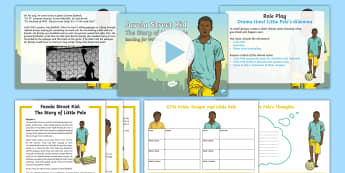 Favela Street Kid: Reading for Writing Resource Pack - Dilemmas, Drama, hot seat, freeze frame, performance, multiculturalism, South America, favela, rio,