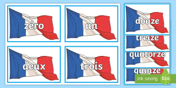 French Numbers 0 to 20 Flashcards - KS2, French, Resources,numbers to 20, flascards,