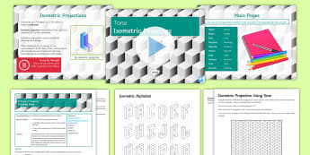 Tone Lesson 4: Isometric Drawing - isometric, shape, 3D, alphabet, lettering, shading, tone