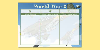World War 2 KWL Grid - world war two, world war 2, ww2, kwl grid, kwl, grid, know, want, learn