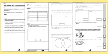 Year 6 Maths Assessment: Multiplication and Division Term 1 - maths