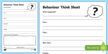 Infants Think Sheet Writing Activity Sheet -Australia, worksheet