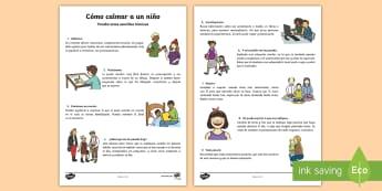 Cómo calmar a un niño - Cómo calmar a un niño, calmarse, sentimientos, emociones