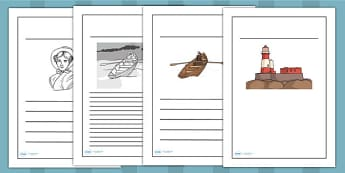 Grace Darling Writing Frames - writing templates, writing aid