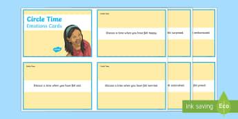 Mindful Me: Circle Time Emotion Cards - Mindfulness, meditation, calming, pastoral support