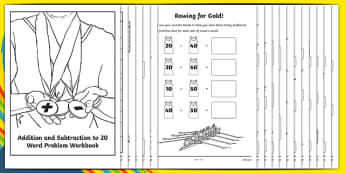 Addition and Subtraction to 20 Word Problem Activity Sheet Pack, worksheet