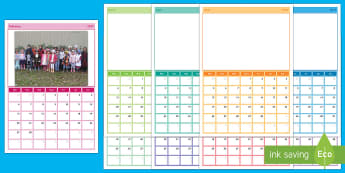 2017 Photo Whole School Display Calendar - Requests KS1, calendar, school photos, year, end of year, new year, january, 2017