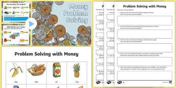 Money Problem Solving PowerPoint Pack - money, pay, change, problem solving, pounds, pence, PowerPoint pack