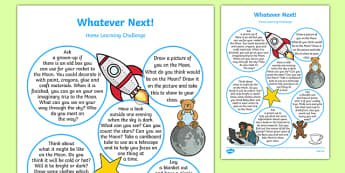 Home Learning Challenge Sheet Reception FS2 to Support Teaching on Whatever Next!