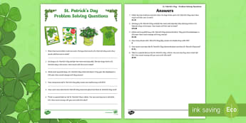 St. Patrick's Day Maths Money Problems Activity Sheet - St. Patrick's Day, Maths challenge, Money, Problems, Subtraction, Times Tables, Addition, Problem S