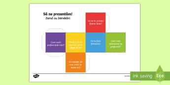 Prezintă-te - Zar cu întrebări - scriere, română, fișe. activități, septembrie, revenirea la școală,Romanian