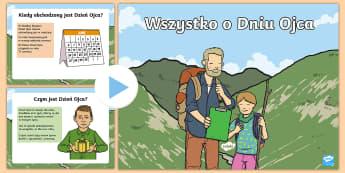 Prezentacja PowerPoint Wszystko o Dniu Ojca - ojciec, tata, rodzina, rodziny, dzień, ojca, taty, rodzina, rodzinny, historia, Ameryka, czerwiec,