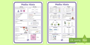 KS1 Maths Hints Display Posters - KS1 Maths Hints Display Posters - numeracy, strategies, problem solving, calculations, reminders, hi