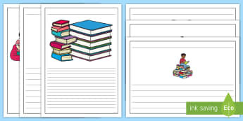 Book Review Writing Template - book, books, writing template, writing aid, writing aid, review