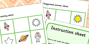 Listen And Do 2 Three Word Level - drawing, levels, worksheets