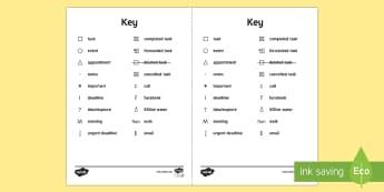 Bullet Journal Key - Bullet Journal, bujo, diary, journal, borders, colouring, doodles, key, planner