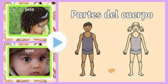 Presentacion las partes del cuerpo - spanish, parts, body, powerpoint, human