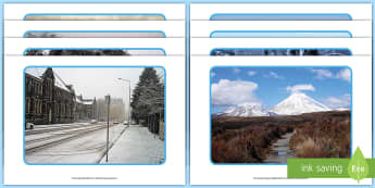 New Zealand Winter Photo Display Pack  - New Zealand, Winter, Seasons, Snow, Skiing, Snowboarding, Mountains, Ski Fields, Snow Day, photos