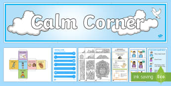 Calm Corner Resource Pack - Calming, Chill out, Calm Down, Breathing techniques, Display, CALMS, Scottish