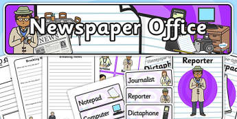 Newspaper Office Role Play Pack-newspaper office, role play, pack, role play pack, newspaper office pack, role play materials, activities