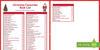 Christmas Favorites Book List