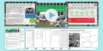 The Rise of Hitler Lesson Pack - Secondary - History - Rise of Hitler, Weimar Republic, Germany, Nazism, Hitler, Munich Putsch, democ