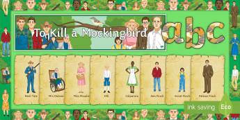 To Kill a Mockingbird Display Pack - To Kill a Mockingbird, Harper Lee, Atticus Finch, Scout Finch, Jem Finch, Calpurnia, Dill, Miss Maud