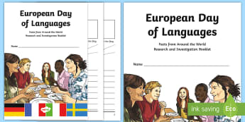 European Day of Languages Research Booklet - investigation, maps, research, countries, capital city, ,Scottish